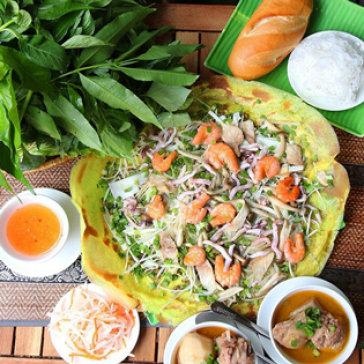 Hot Deal - Am Thuc Ba Hai - Banh Xeo Tu Chon + 2 Bun Thai/ Bun Thit Nuong/ Com Tam/ Ca Ri Ca