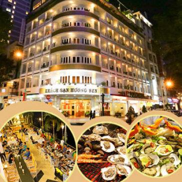 Hot Deal - Buffet Toi Nuong Hon 50 Mon Cuoi Tuan Tai KS Huong Sen - Ap Dung Le