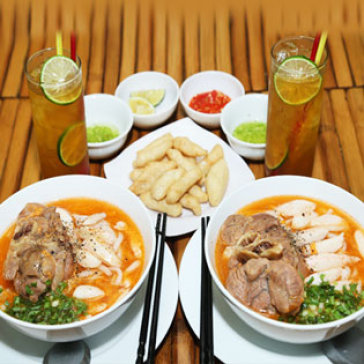 Hot Deal - Combo 2 To Banh Canh Cua Dac Biet + 02 Ly Nuoc Nuoc Tra Chanh