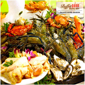 Hot Deal - Buffet Ganh Bong Sen Buoi Toi Tai Khach San Palace Saigon 4*