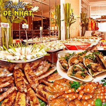 Hot Deal - Buffet Trua De Nhat Tren 60 Mon Viet, A, Au, Lau + Mien Phi Nuoc Uong