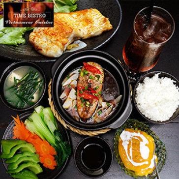 Hot Deal - Set Lunch Dang Cap 5 Tai Nha Hang Time Bistro - Pho Di Bo Nguyen Hue