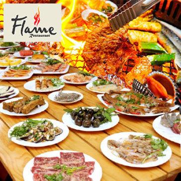 Hot Deal - Buffet Toi BBQ Bo My - Hai San - Lau Gan 80 Mon - Nha Hang Flame