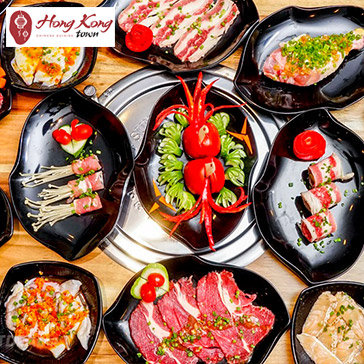 Hot Deal - Buffet Toi Bo My Nuong & Lau Hai San, Free Buffet Kem, Trang Mieng, Mon An Kem - Hong Kong Town Vincom Quan 9