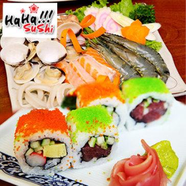 Hot Deal - Set Mon Nhat, Lau Hai San, Nuoc Uong Cho 3- 4 Nguoi Tai Haha Sushi