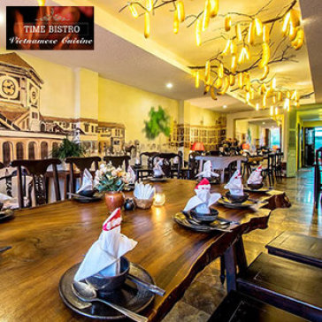 Hot Deal - Set An 02 Nguoi Dang Cap 5* Tai NH Time Bistro Tren Pho Di Bo Nguyen Hue
