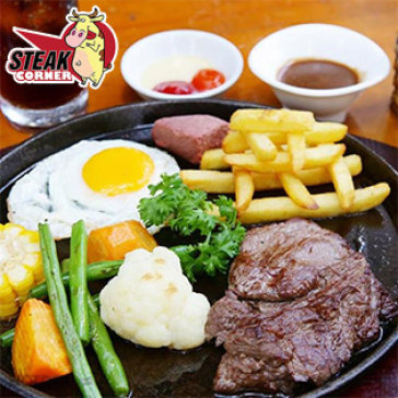 Hot Deal - 01 Phan Steak Bo My + 1 Ly Coca Cho 01 Nguoi Tai Steak Corner Restaurant