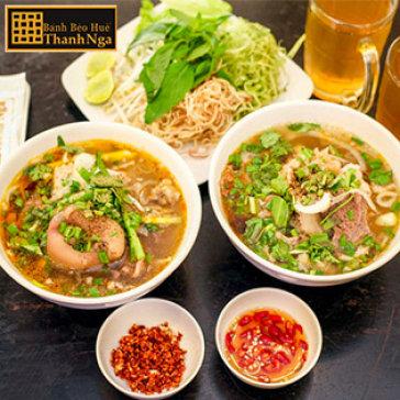 Hot Deal - Combo 02 To Bun Bo Hue Thanh Nga 3 Mon + 02 Tra Da + 02 Khan Lanh – He Thong Banh Beo Thanh Nga