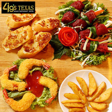 Hot Deal - Combo Mon Au Dac Biet Danh Cho 2 Nguoi Tai 4G's Texas Restaurant
