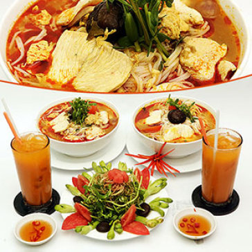 Hot Deal - Combo 02 To Mien Thai Ga & Nam+02 Ly Tra Sua Thai-Nha Hang Thai Food