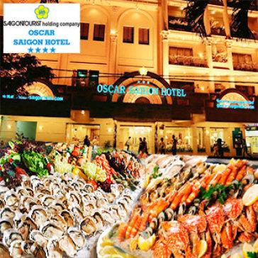 Hot Deal - Buffet Toi T6, 7 & CN Hai San, Nuong & Lau - Oscar Hotel 4* - Pho Di Bo Dep Nhat VN