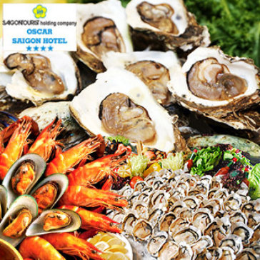 Hot Deal - Buffet Trua Hai San Tai Oscar Saigon Hotel 4* - Pho Di Bo Dep Nhat VN