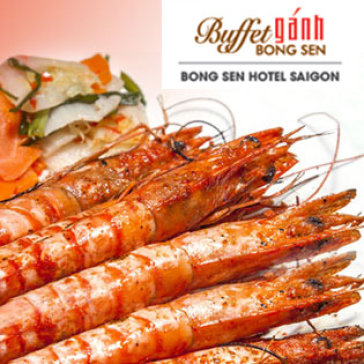 Hot Deal - Buffet Ganh Buoi Toi Tai Khach San Bong Sen