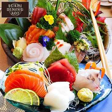 Hot Deal - Buffet Trua/ Toi 100 Mon Nuong, Lau, Sashimi, Sushi Tai Sushi Dining AOI