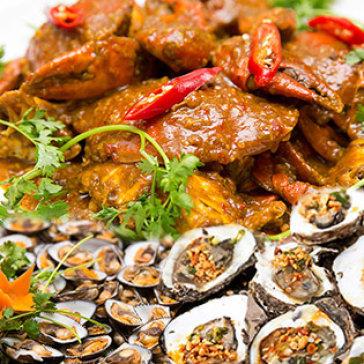 Hot Deal - Buffet Toi Hon 60 Mon Hai San + Oc + Nuong + Xien Que (Bao Gom Nuoc) - Ap Dung Le, NH Tan Hoa Cau