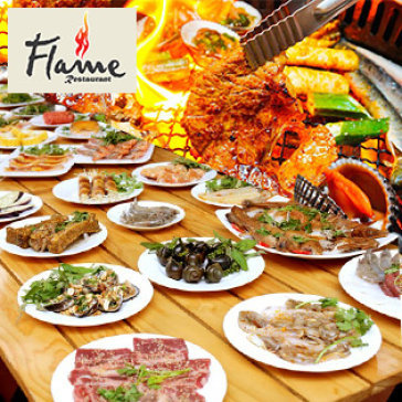 Hot Deal - Buffet Trua BBQ Bo My - Hai San - Lau Gan 80 Mon - Nha Hang Flame