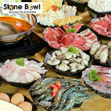 Hot Deal - Buffet Trua Va Toi Lau, Hai San, Sushi & Bo My Hao Hang Tai Stone Bowl Restaurant – Tang 1 Ly Pepsi