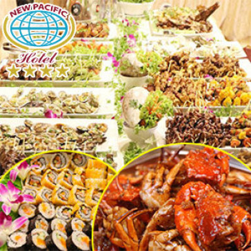 Hot Deal - Buffet Toi T7 - CN Hai San Tai New Pacific Hotel 4*