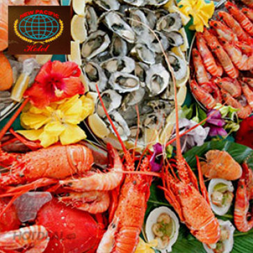 Hot Deal - Buffet Toi Lau, Nuong, Hai San Mua 5 Tang 1 - T4 - T5 - T6 Tai New Pacific Hotel