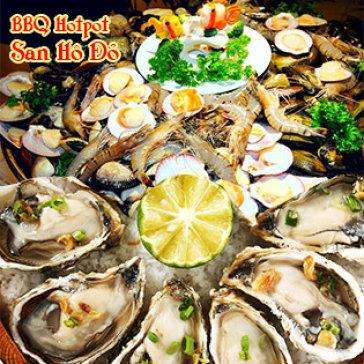 Hot Deal - Buffet Toi Hai San, BBQ, Hotpot 70 Mon Nuong Tai Ban + Free Trang Mieng - Nha Hang San Ho Do