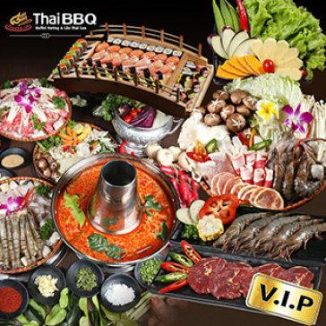 Hot Deal - Buffet Trua/ Toi Bo My Nuong Va Lau Thai, Sushi Tai Thai BBQ