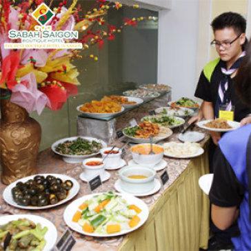 Hot Deal - Buffet Trua Mon Malaysia Doc Dao Va Hap Dan Tai Sabah Saigon Hotel
