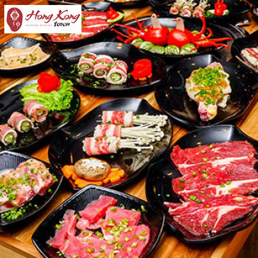 Hot Deal - Buffet Trua Bo My Nuong & Lau Hai San, Free Buffet Kem, Trang Mieng, Mon An Kem - Hong Kong Town Vincom Quan 9