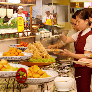 Hot Deal - Buffet Trua Thai Lan Free Tra Sua Thai - Nha Hang Con Voi Vang