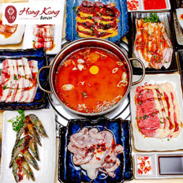 Hot Deal - Buffet Toi Bo My Nuong & Lau Hai San, Free Buffet Kem - Hong Kong Town