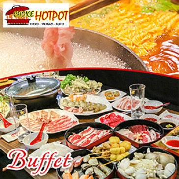 Hot Deal - Buffet Trua Lau Nhat, Hai San & Bo My, Free Buffet Kem, Pepsi, Trang Mieng, Mon An Kem – Choice Hotpot
