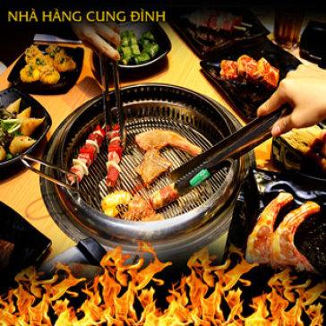 Hot Deal - Buffet Cung Dinh - Hon 50 Mon Hai San, Bo My, Lau Tu Chon - Buffet Trua Va Toi