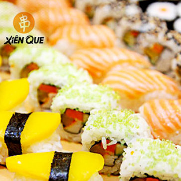 Hot Deal - Buffet Trua/ Toi Tren 75 Mon Xien Que & Sushi Tai He Thong Xien Que