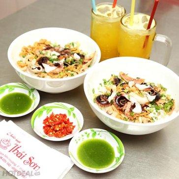 Hot Deal - Combo Cho 2 Nguoi & Hu Tieu/ Banh Canh/ Chao Bach Tuoc + Thuc Uong - Chao Muc Thai Son
