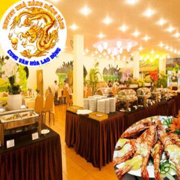 Hot Deal - Buffet Toi 50 Mon + Ve Xem Phim 3D Cho 1 Nguoi Tai Nha Hang Buffet Rong Vang