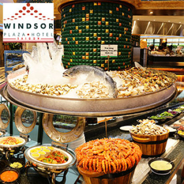 Hot Deal - International Buffet Toi Cuoi Tuan Thu 7 & Chu Nhat Windsor Plaza Hotel 5*