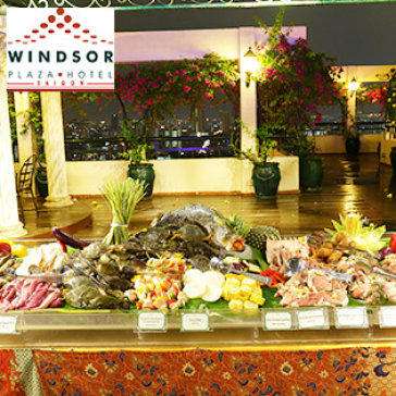 Hot Deal - International Buffet BBQ Toi Thu 7 Hang Tuan Tai Tang 25 Windsor Plaza Hotel 5*