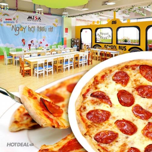 Bánh Pizza Size Lớn Cho Ba, Mẹ và Bé Tại Khu Vui Chơi Hàn Quốc Berry Very Kids And Fun