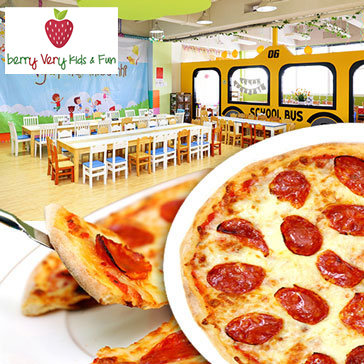 Hot Deal - Banh Pizza Size Lon Cho Ba, Me va Be Tai Khu Vui Choi Han Quoc Berry Very Kids And Fun