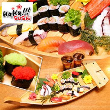 Hot Deal - Set Sashimi, Sushi, Maki, Ebiko, Tuna Mayo, Nuoc Uong Danh Cho 2 Nguoi Tai Haha Sushi