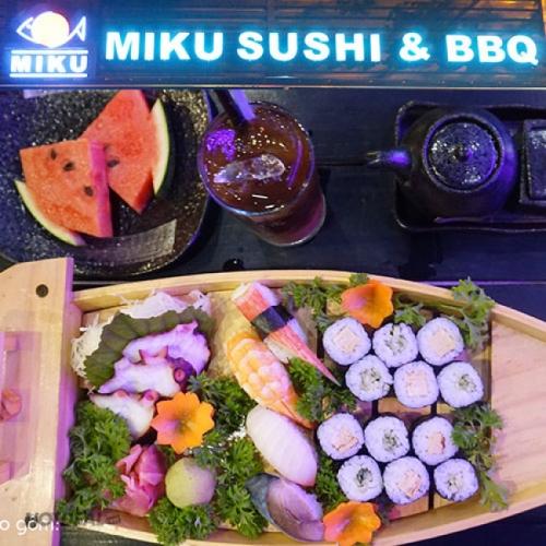 Set Sashimi, Sushi, Maki Và Nước Uống Cho 2 Người Tại Miku Sushi