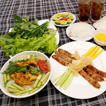 Hot Deal - Combo 01 Phan Nem Nuong + 01 To Bun Ca Ro/ Pho Ga/ Mien Ga + 02 Ly Nuoc - Quan Nem An Dien
