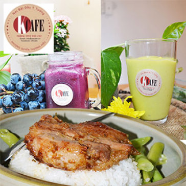 Hot Deal - Combo 01 Com Trua Tu Chon + 01 Trai Cay Xay - OK Cafe