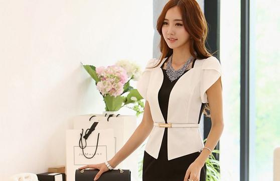 Đầm Công Sở Giả Vest