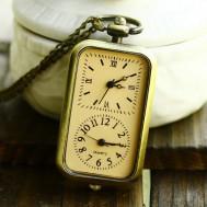 Dây chuyền mặt 2 đồng hồ