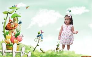 Đầm Bí bé gái 2 - 4 tuổi