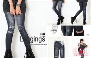 Quần legging dài giả jean