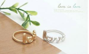 Nhẫn chữ Love