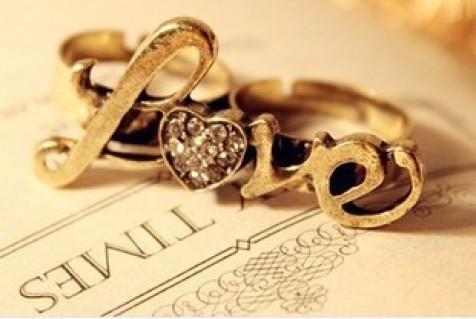 Nhẫn love 2 ngón