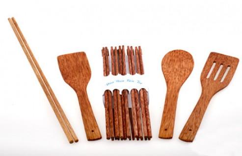 Bộ dụng cụ làm bếp bằng gỗ dừa