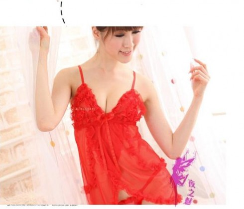 Đầm ngủ đỏ sexy